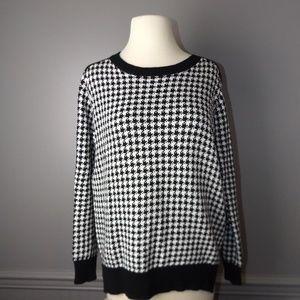 [Zara] Herringbone Crewneck Sweater